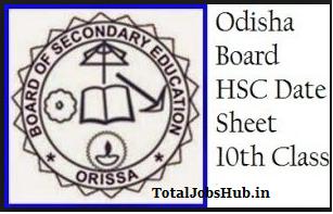 odisha- hsc time table