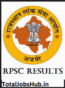 rpsc ras pre exam result