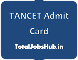 TANCET Admit Card