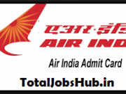 air india admit card