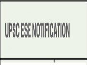 upsc ese notification