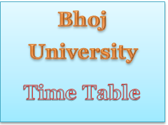 bhoj university time table