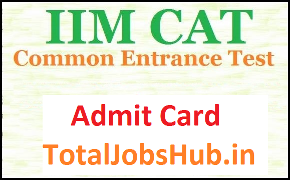 cat admit card