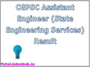 cgpsc assistant engineer result