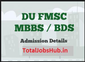 delhi university mbbs bds