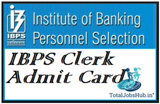 ibps clerk mains admit card