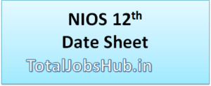 nios 12th time table