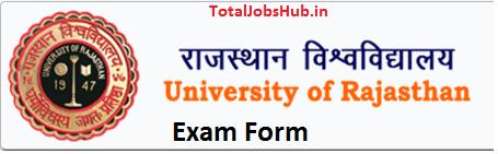Rajasthan University Exam Form