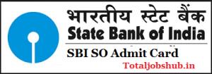 sbi specialist officer admit card