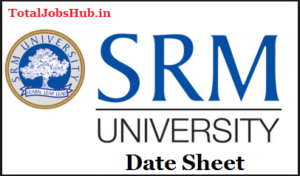 srm university date sheet