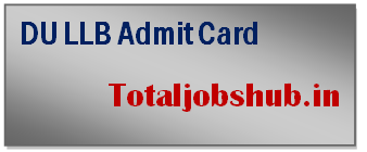du llb admit card
