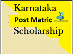 karnataka post matric scholarship