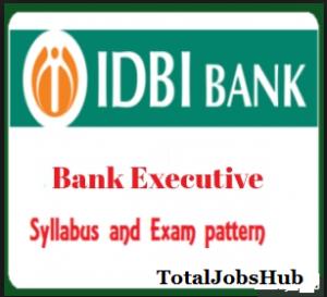 idbi bank executive syllabus