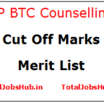 up btc counselling cut off merit list