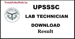 upsssc-lab-technician-result