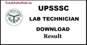 upsssc lab technician result