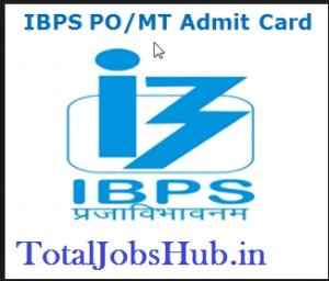 IBPS PO MT Admit Card