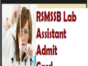 rsmssb lab assistant admit card 2018