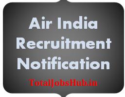 Air India Recruitment 2017 airindia.com Career Notification