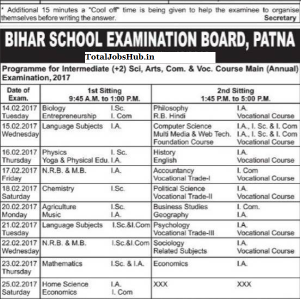 bihar-board-12th-routine-2017