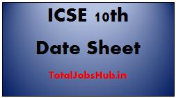 icse 10th date sheet