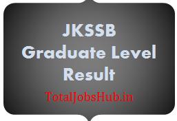 JKSSB Graduate Level Result 2017 Dec Exam Cut Off Marks, Merit List