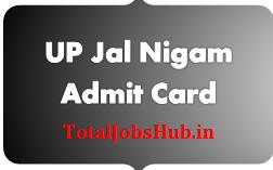 UP Jal Nigam Admit Card 2017 Routine Clerk, Steno Exam Date