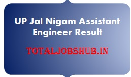UP Jal Nigam Assistant Engineer Result