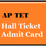 ap tet hall ticket download