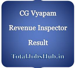 CG Vyapam Revenue Inspector Result