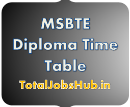 MSBTE Diploma Time Table