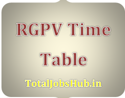 RGPV Diploma Time Table