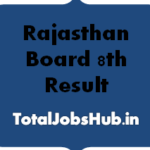 Rajasthan Board 8th Result
