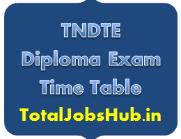TNDTE Diploma Time Table