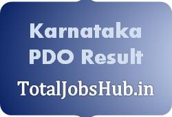 Karnataka PDO Result