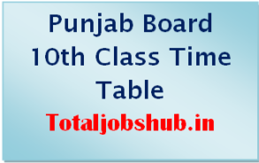 Punjab Board 10th Class Time Table 2020 Pdf PSEB Matric Date Sheet