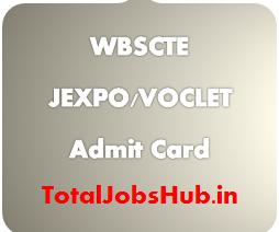 WBSCTE JEXPO Admit Card