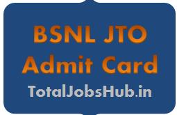 bsnl jto admit card 2017