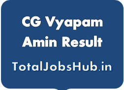 CG Vyapam Amin Result