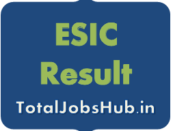 ESIC UDC MTS Result 2017 -2018 esic.nic.in Steno Cut Off Marks
