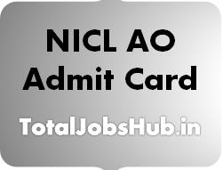 NICL AO Admit Card
