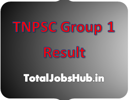 TNPSC Group I Result