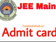 jee main admit card 2018