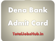Dena Bank admit card