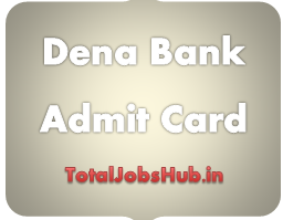 Dena Bank admit card