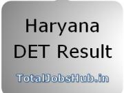 Haryana DET Result 2018