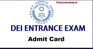 dei entrance exam admit card
