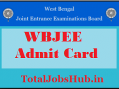 wbjee admit card 2018
