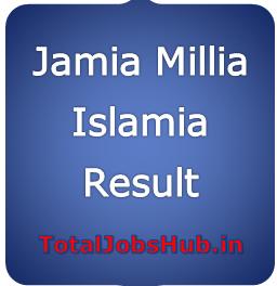 Jamia Millia Islamia entrance exam Result