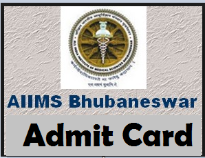 aiims bhubaneswar admit card